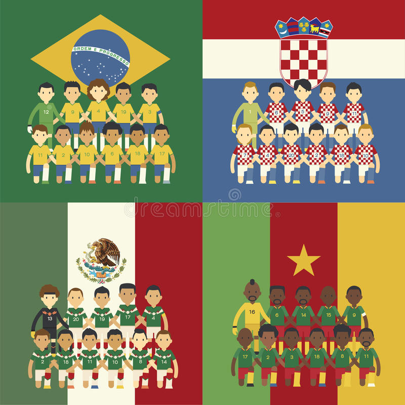 Brasilien 2014 grupp A stock illustrationer