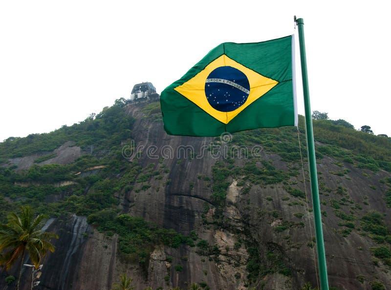 Brasilien-Markierungsfahne lizenzfreie stockfotografie