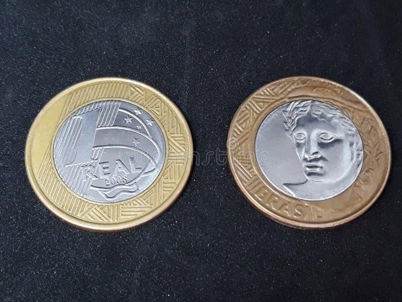 Brasilien mynt arkivfoton