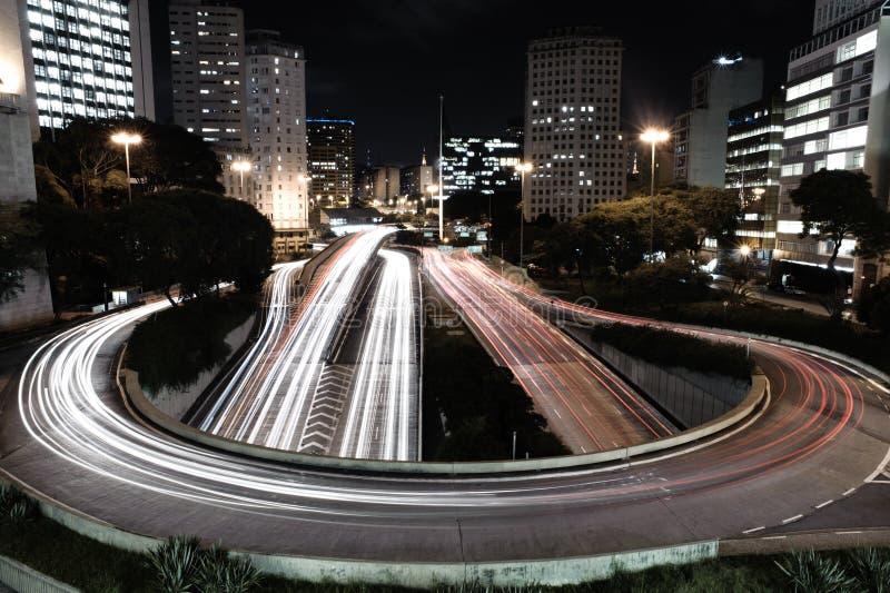 Brasilien- - PauloHauptverkehrszeit stockfotos