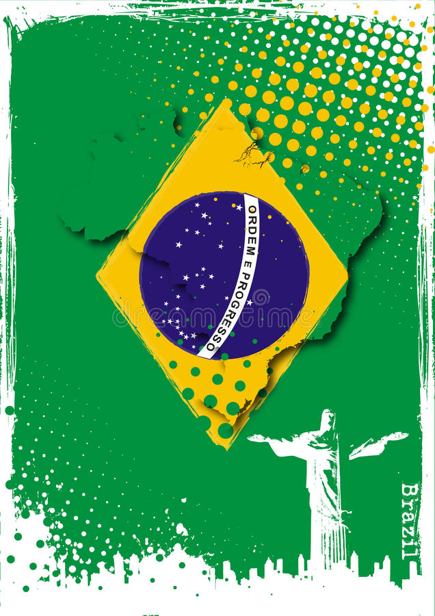 Brasilien-Plakat vektor abbildung