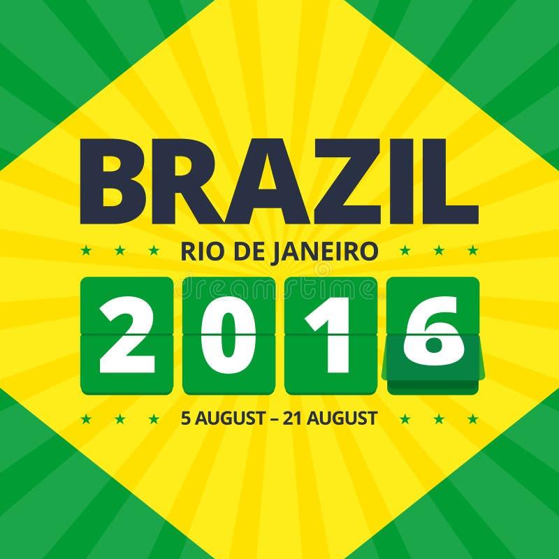 Brasilien-Plakat 2016 stock abbildung