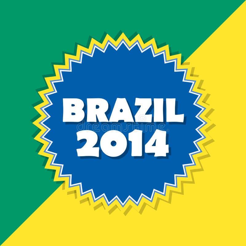 Brasilien 2014, Retro- Aufkleber stock abbildung