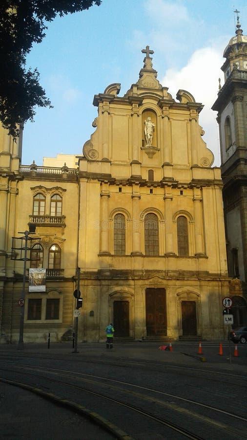 Brasilien - Rio de Janeiro - Praca XV - Stadtzentrum - 1 Primeiro de Marco - Nossa Senhora Monte tun, Carmo-Kirche zu tun stockfoto