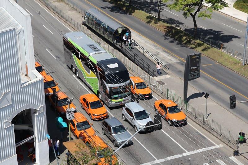 Brasilien taxi royaltyfria foton