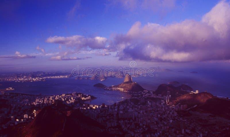 Brasilien: Vista panorâmica de Rio de janeiro City de Corcorvado foto de stock