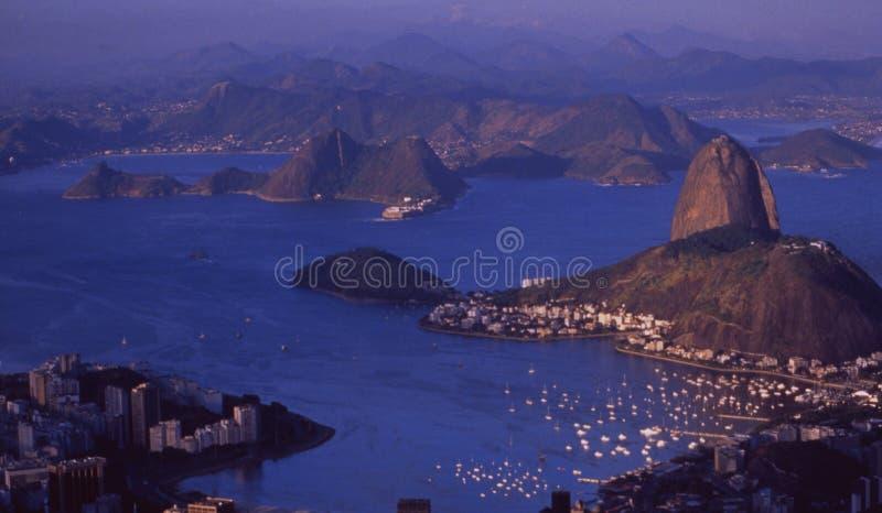 Brasilien: Vista panorâmica de Rio de janeiro de Corcorvado fotografia de stock