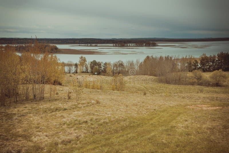 Braslav湖 登上Mayak 迟来的 免版税图库摄影