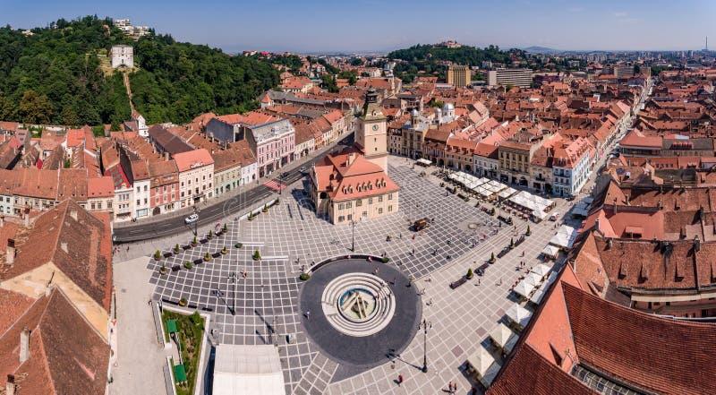Brasoc panorama in Transylvania Romania stock photo