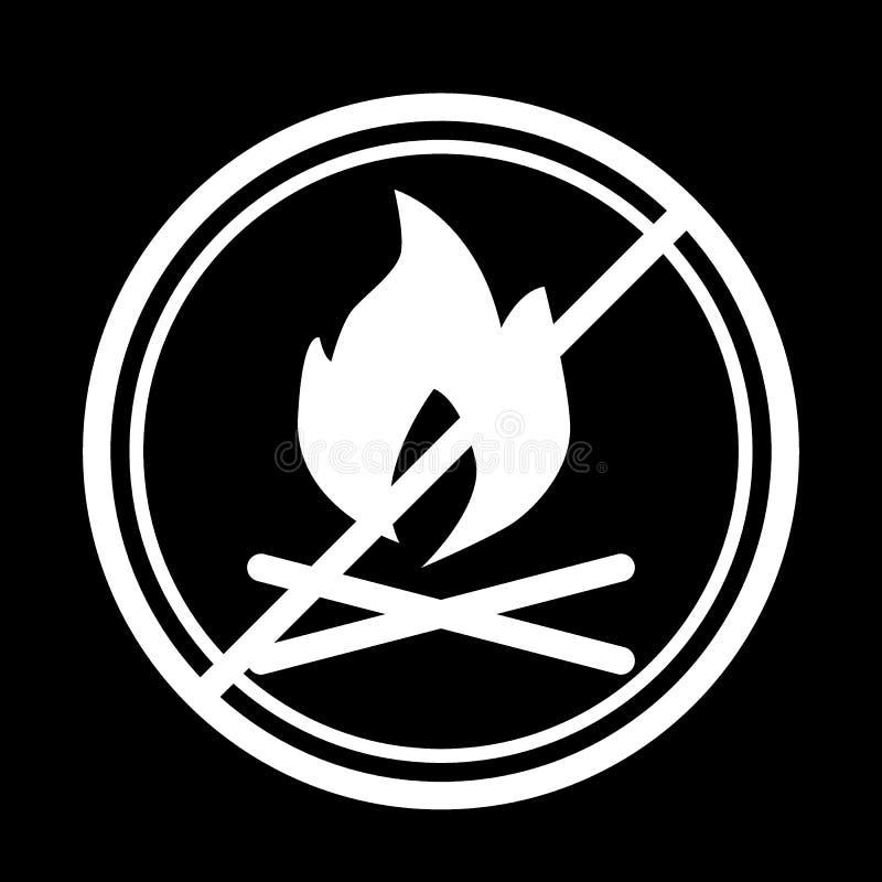 Brasor förbjudas teckenlinjen symbol Vektorillustration som isoleras på svart översiktsstildesign som planläggs för rengöringsduk stock illustrationer