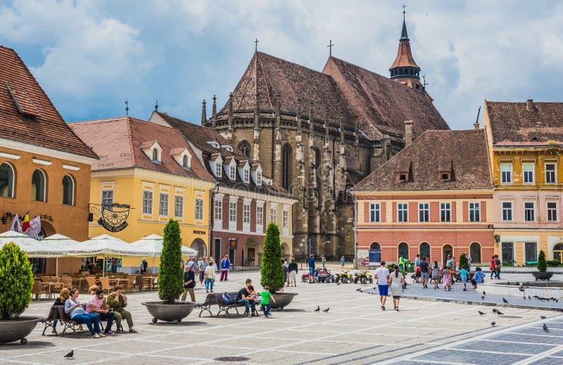 Brasov在罗马尼亚 库存照片