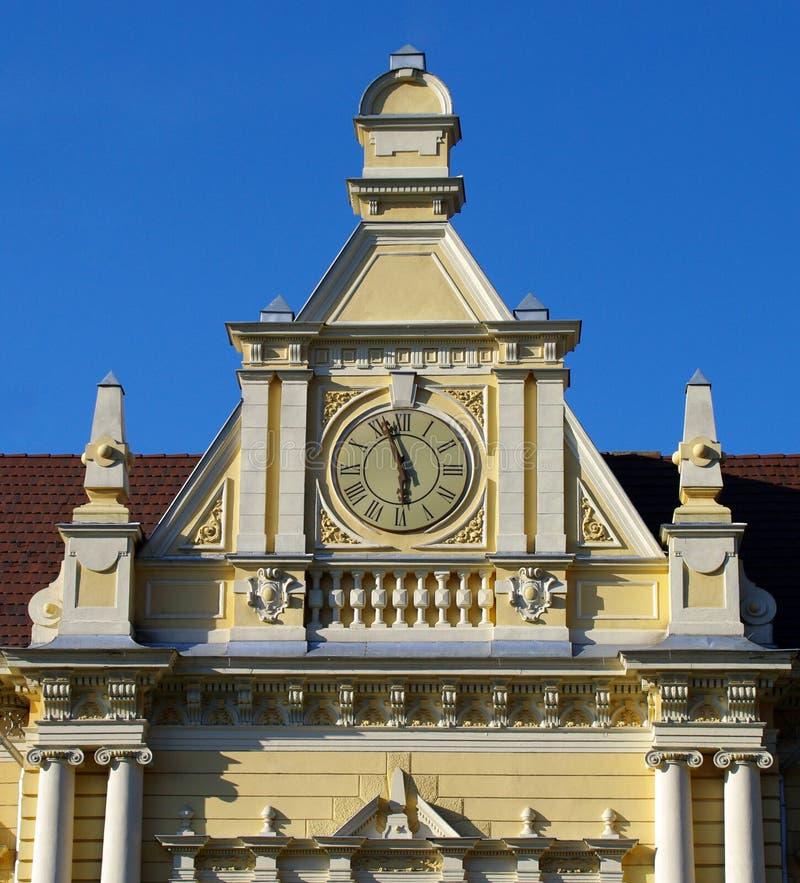 brasov城市时钟大厅 库存图片