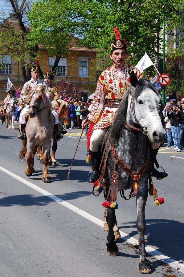 brasov庆祝城市日罗马尼亚 图库摄影