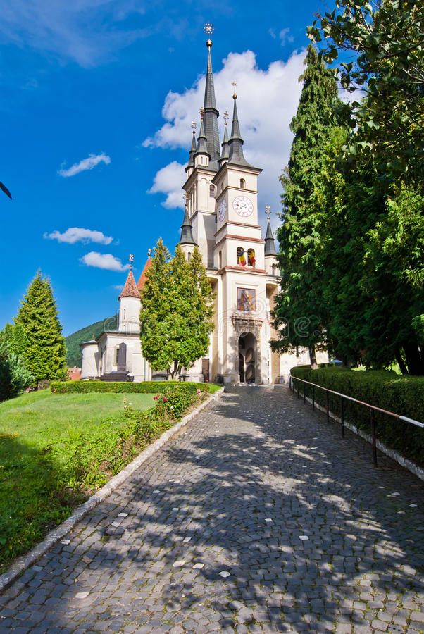 brasov教会尼古拉斯圣徒 免版税图库摄影
