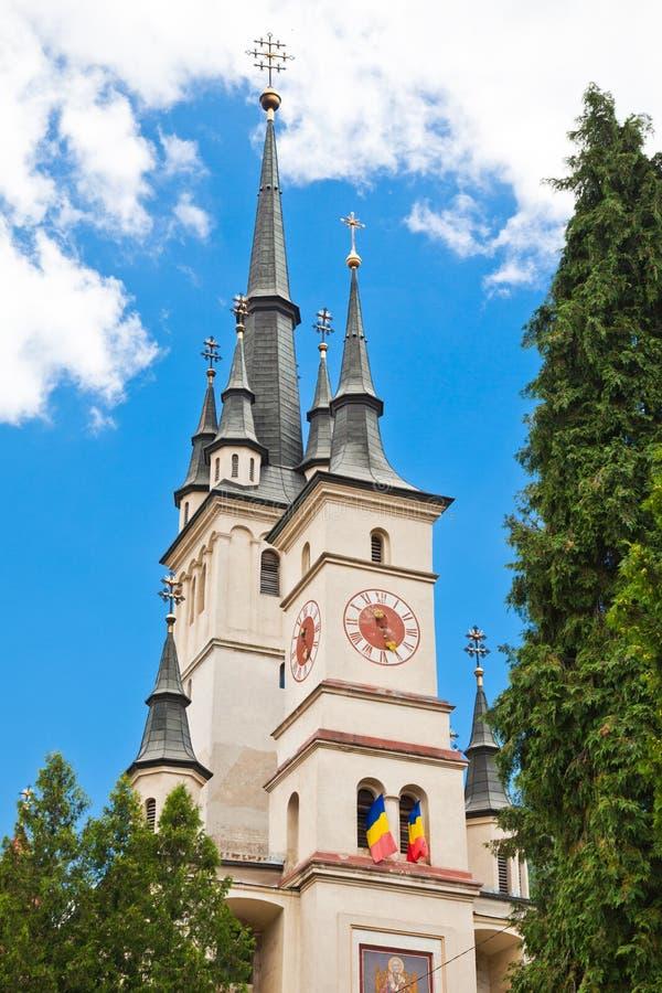 brasov教会尼古拉斯st 库存照片