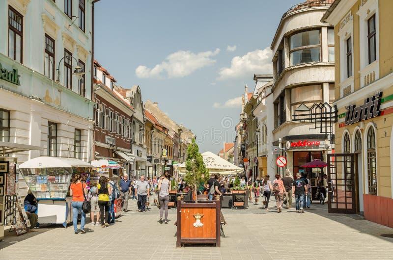 Brasov Średniowieczne ulicy zdjęcie royalty free