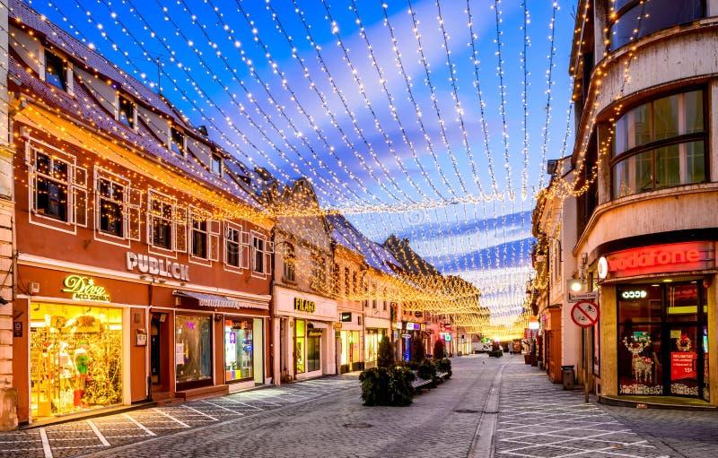 brasov κεντρική πόλη παλαιά Ρου&m στοκ εικόνα με δικαίωμα ελεύθερης χρήσης
