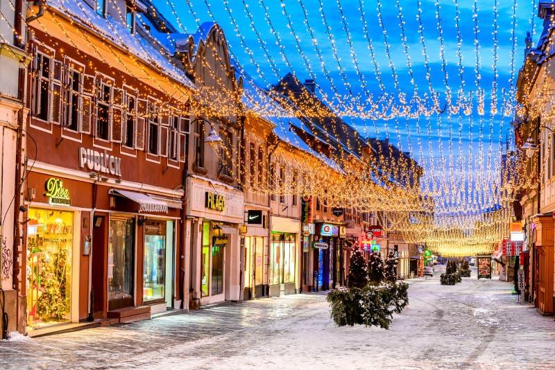 brasov κεντρική πόλη παλαιά Ρου&m στοκ φωτογραφίες με δικαίωμα ελεύθερης χρήσης
