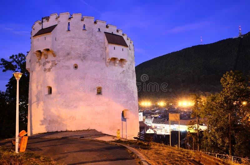 brasov λευκό πύργων της Ρουμανί& στοκ εικόνες