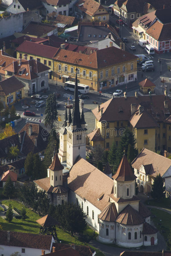 Brasov, вид с воздуха стоковое изображение rf