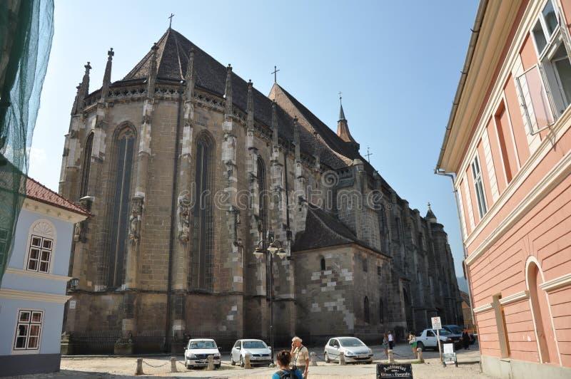 Brasov, черная церковь стоковые фото