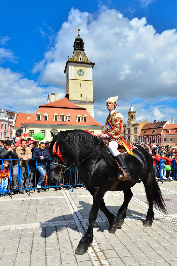 Brasov 777th aniversary, Juni Parade, Romania royalty free stock photography