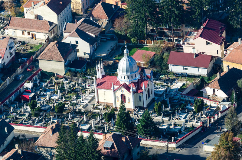 Brasov Aerial View royalty free stock images