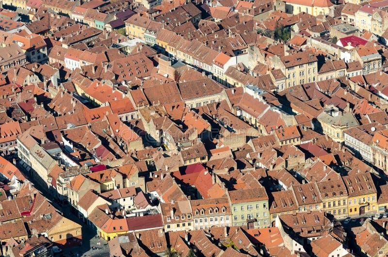 Brasov Aerial View royalty free stock photo
