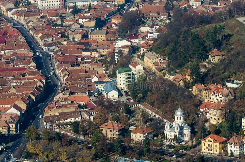 Brasov Aerial View stock photos