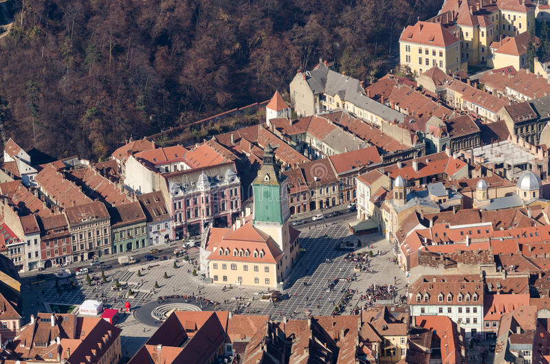 Brasov Aerial View stock photo