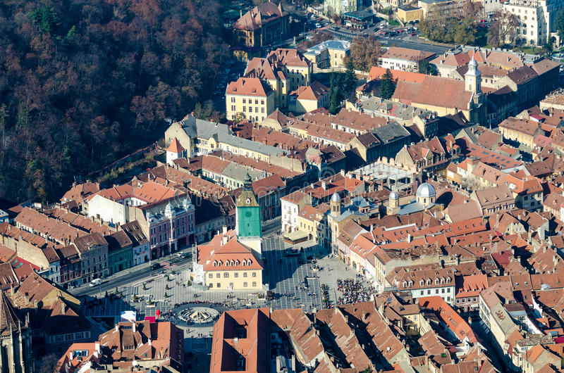 Brasov Aerial View royalty free stock photography