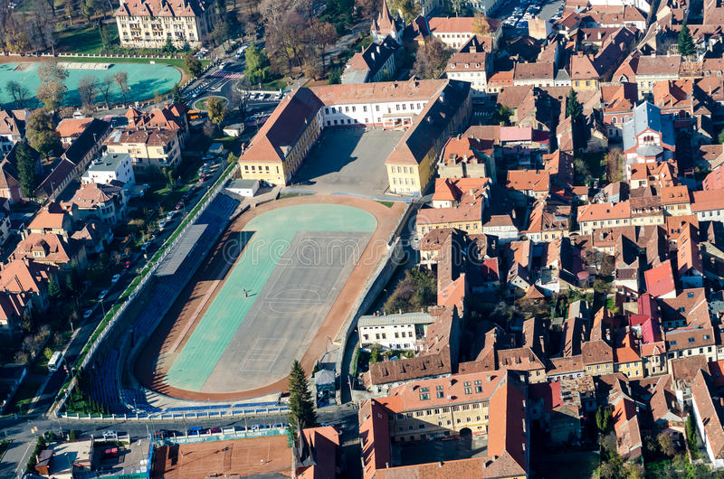 Brasov Aerial View stock image