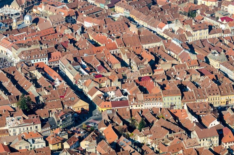 Brasov Aerial View royalty free stock image