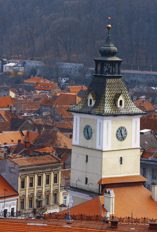 Brasov building. City of Brasov, Romania. Council square stock images