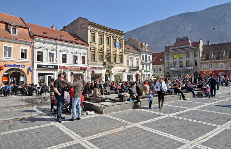 Download Brasov center editorial photo. Image of saturday, city - 23939351