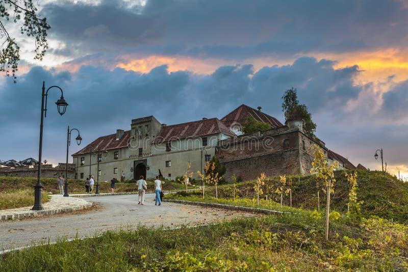 Brasov citadell, Rumänien royaltyfri bild