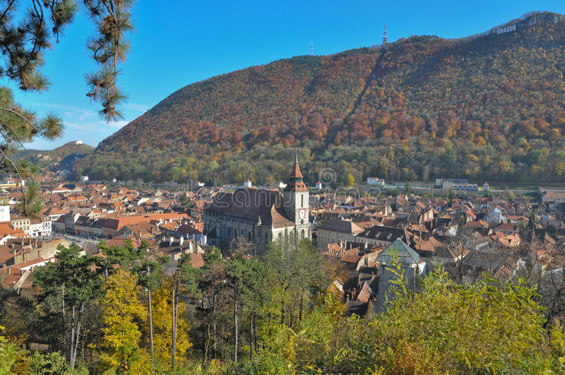 Download Brasov city in the fall stock image. Image of square - 18397353