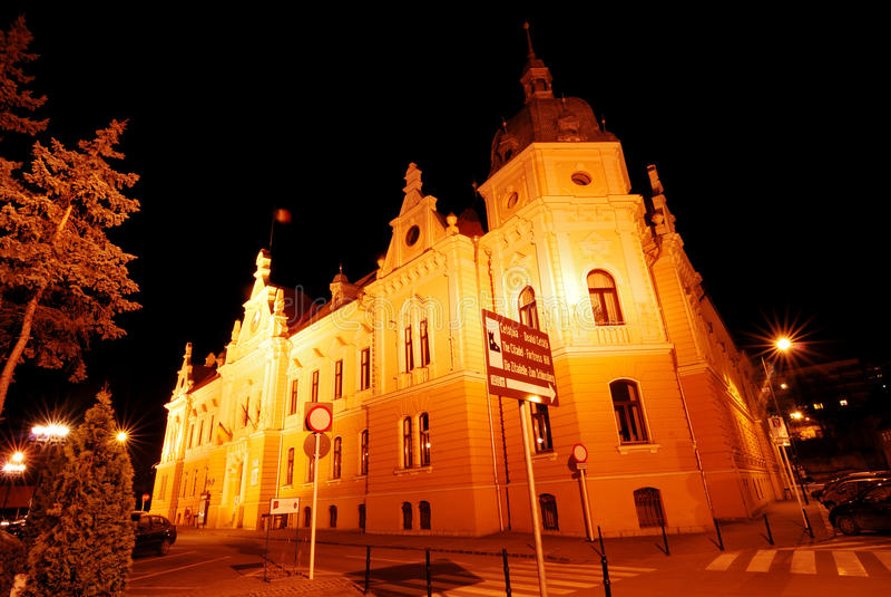 Brasov city hall, Romania royalty free stock photo