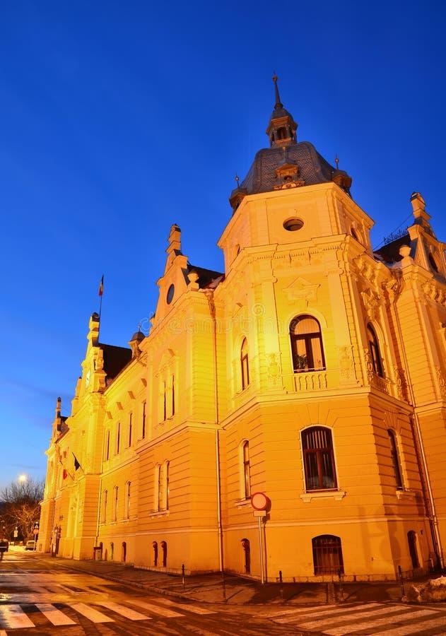 Brasov cityhall building, Transylvania, Romania royalty free stock photos