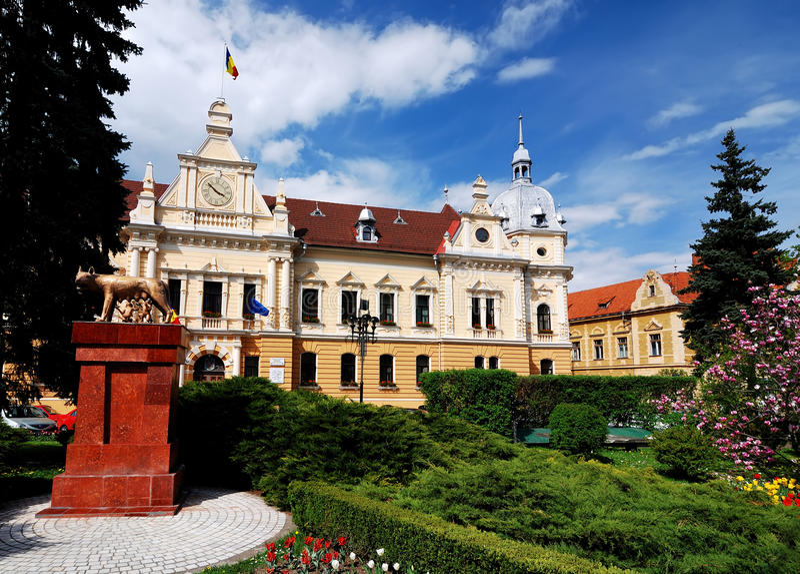 brasov cityhall Romania obraz royalty free