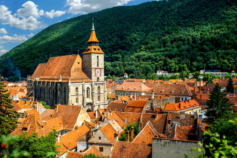 Brasov cityscape in Romania royalty free stock image