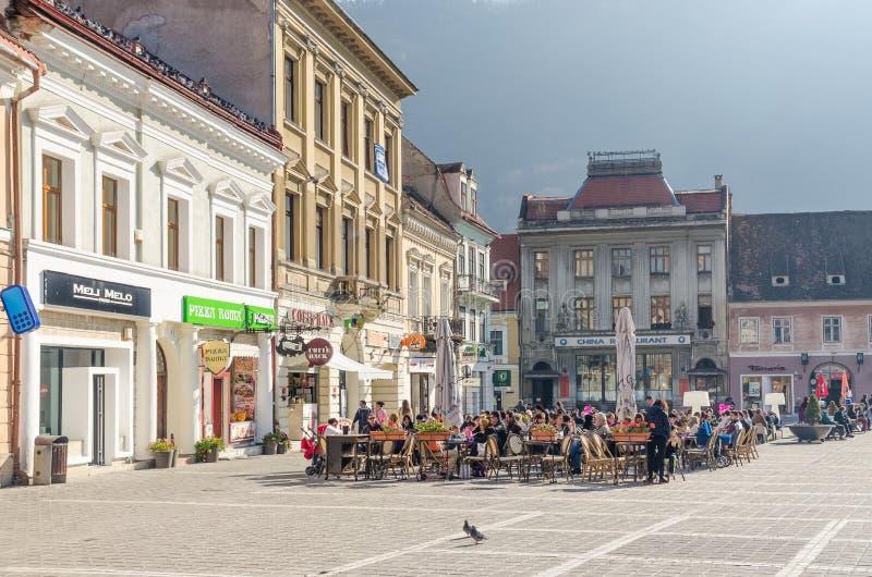 Brasov Council Square Historical Center stock photos