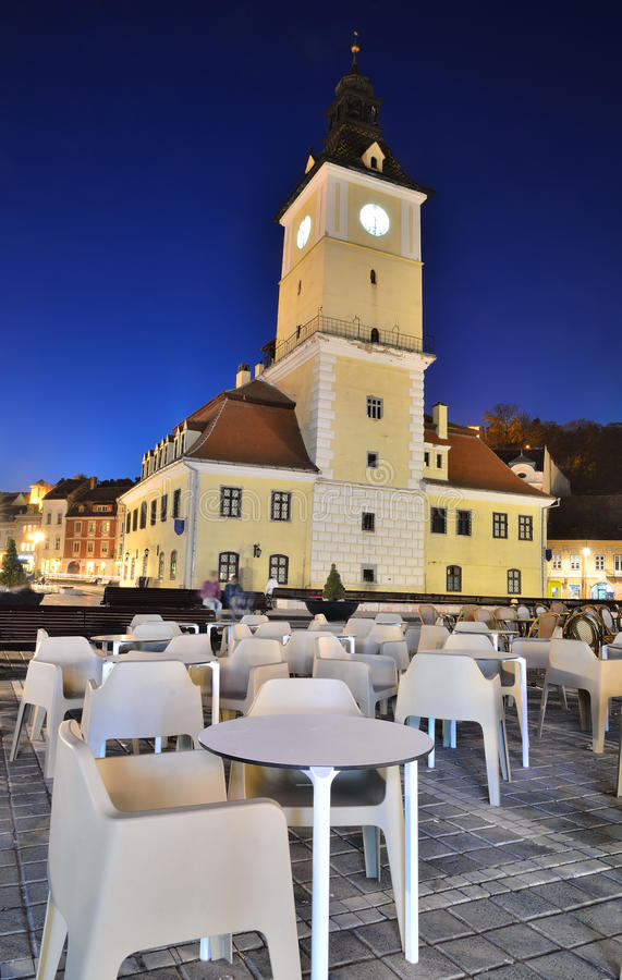 Brasov Council Square, Romania royalty free stock photo