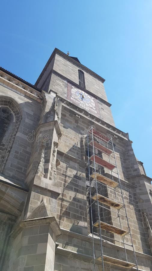 brasov czarny kościół obraz royalty free