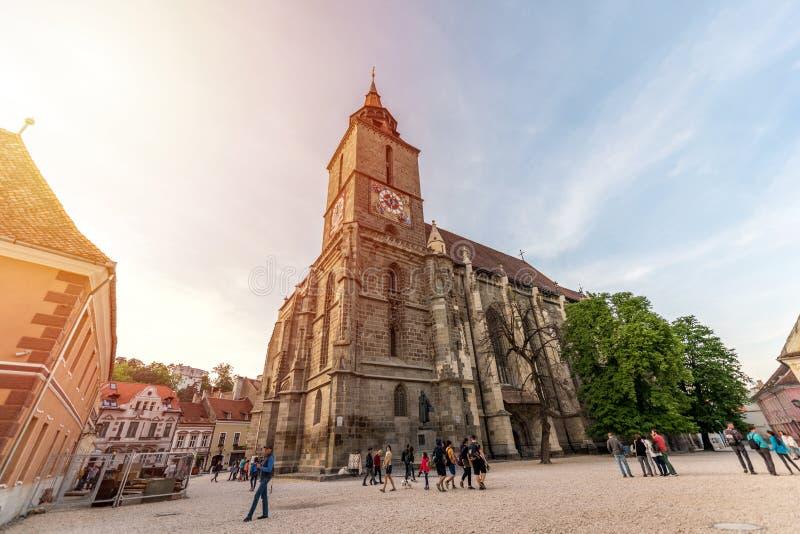 brasov czarny kościół Romania zdjęcie stock