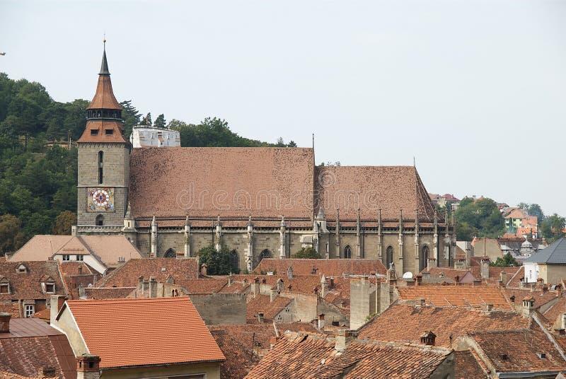 brasov czarny kościół Romania obrazy stock