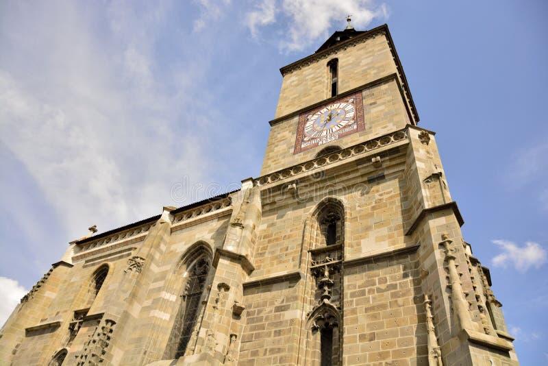 brasov czarny kościół Romania obraz royalty free