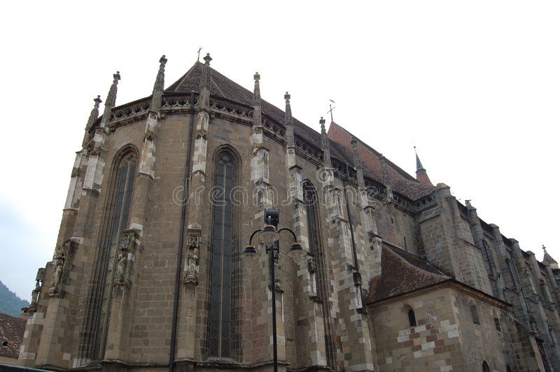 brasov czarny kościół Romania zdjęcie royalty free