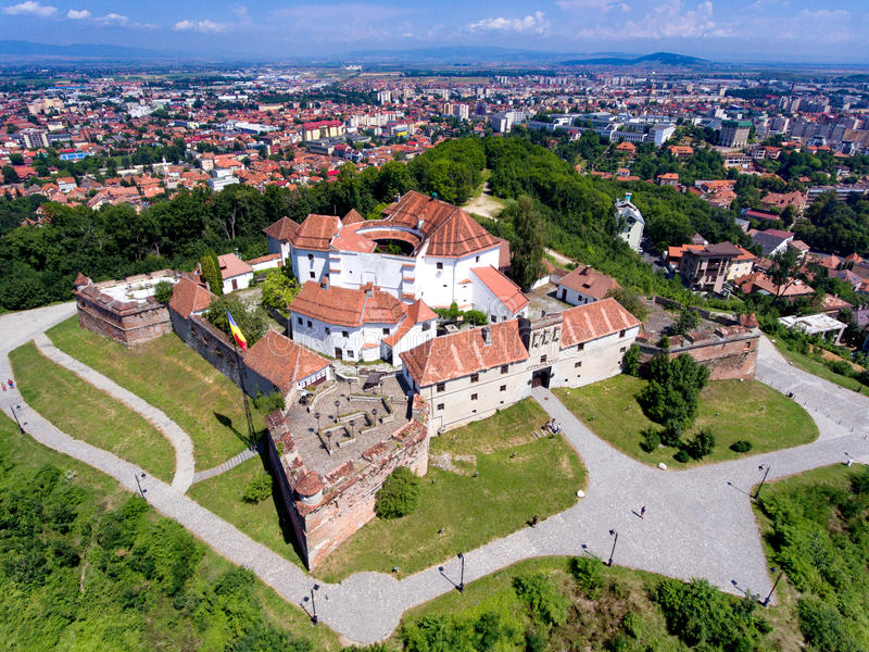 Brasov fortress aerial view royalty free stock image