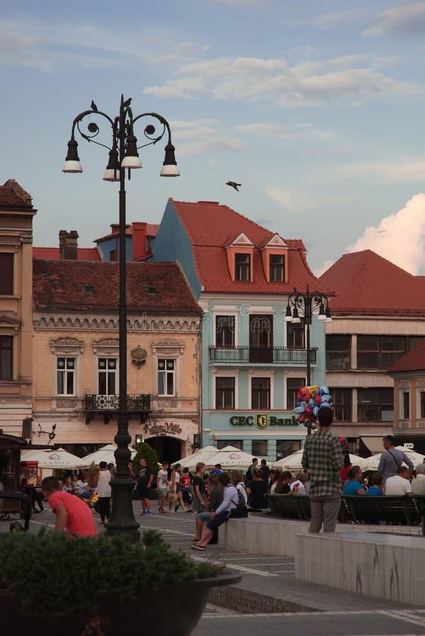 Brasov-Hauptplatz Rumänien stockbilder